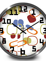 Bright Color Block Metal Quartz Wall Clock