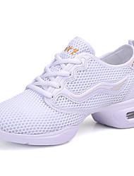 Damen-Sneaker-Outddor / Lässig / Sportlich-Tüll / PU-Blockabsatz-Komfort / D'Orsay und Zweiteiler-Schwarz / Weiß