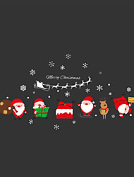 Wall Stickers Wall Decals Style Lovely Santa Claus PVC Wall Stickers