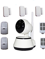 Android Ios App Pan Tilt IP Camera Security House WIFI Alarm System 64pcs Wireless Alarma Detectors 433mhz Max