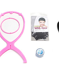 Neitsi Wig Stand Wig Cap Hair Brush US Waker Tape Roll 4Pcs/set for Wig Accessories 4 Color Available