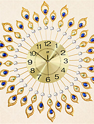 The Modern Style Of Fashion Creative Diamond Iron Wall Clock