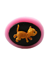 Cat Chocolate Silicone Molds,Cake Molds,Soap Molds,Decoration Tools Bakeware