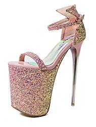 женская обувь сексуальный круглый носок шпильках пятки сандалии каблук высота 20см (больше цветов)