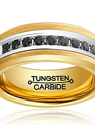 Ring Fashion / Vintage Wedding / Party / Daily / Casual Jewelry Tungsten Steel Band Rings 1pc,7 / 8 / 9 / 10 / 11 / 12 / 13 / 8½ / 9½ /