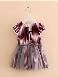 Baby striped dress new children's clothing girls gauze skirt children