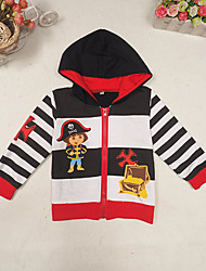 Girl's Casual/Daily Print Hoodie & Sweatshirt,Polyester Spring / Fall Black