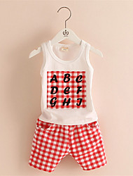 Children Plaid Suit Male New Children'S Clothing Boys And Girls Two-Piece Vest Shorts
