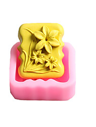 Three Flowers Chocolate Silicone Molds,Cake Molds,Soap Molds,Decoration Tools Bakeware