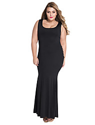 Women's  Hollowed Back Maxi Jersey Dress