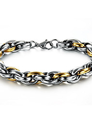 Men's Hight Quality Titanium Steel Silver/Gold Chain Bracelet