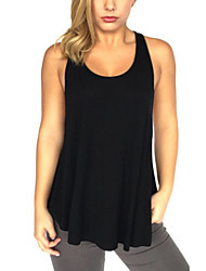 Women's Solid Black / Green Blouse,Round Neck Sleeveless