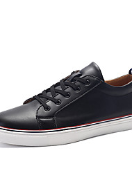 Men's Shoes / Athletic / Casual Leather Fashion Sneakers Black / White