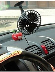 4 Inch Mini Portable Car With Suction Cup Electric Fan Black 12V