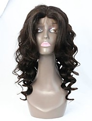 180% Density Middle Part High Fringe Deep Wave Human Hair Lace Front Wig/Full lace Wig
