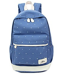 Women Canvas Sports / Casual Backpack Blue / Green / Red / Black