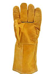 длинные желтые кожаные сварочные перчатки сварки теплоизоляция износа перчатки пожара звезда