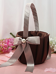 Chocolate Brown Flower Basket