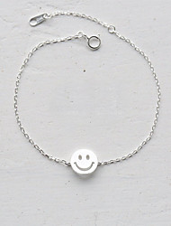 Women Sterling Silver Fashionable Daily Chain Bracelets