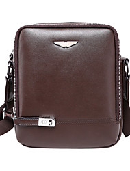 Men Bags All Seasons Cowhide Shoulder Bag with for Casual Formal Outdoor Office & Career Black Brown