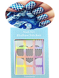 1pcs New Hollow Sticker Colorful Geometric Image Nail Manicure Design JV201-205
