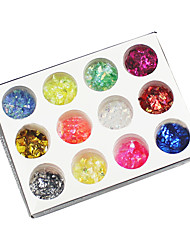 Manicure Crystal Jewelry A 12 Color Shell Paper Glitter Nail Polish DIY Shiny Paper Decoration Materials