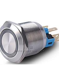 botão interruptor fornecimentos industriais em aço inoxidável anel angel eyes liderou com 22 milímetros de luz