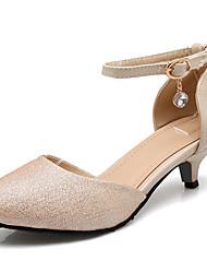 2017 New Arrivals Women's Shoes Best Seller Kitten Heel 1in-1 3/4in Pointed Toe Pumps/Heels Dress/Casual Black/Purple/Gold