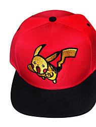 Hat/Cap Inspired by Pocket Monster Ash Ketchum Anime Cosplay Accessories Cap Black / Red Linen Male / Female
