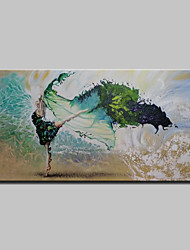 Hand Painted Modern Abstract Girl Oil Paintings On Canvas Wall Art Picture With Stretched Frame Ready To Hang