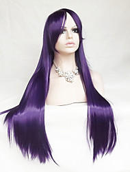 Purple Cosplay Wig 30 Inch Long Straight Hair High Temperature Wire