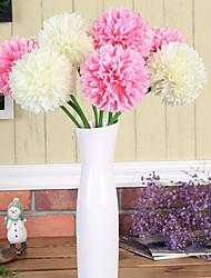 1 1 Rama Poliéster / Plástico Hortensias Flor de Mesa Flores Artificiales 23.6*4.1inch/60*10.5cm