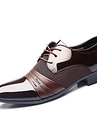 Men's Oxfords Spring Fall Formal Shoes PU Wedding Outdoor Office & Career Casual Party & Evening Flat Heel Black Brown Walking