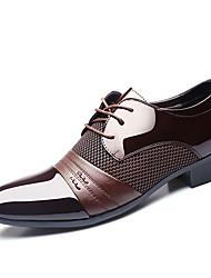 -Для мужчин-Свадьба Для прогулок Для офиса Повседневный Для вечеринки / ужина-Полиуретан-На плоской подошве-Формальная обувь-Туфли на