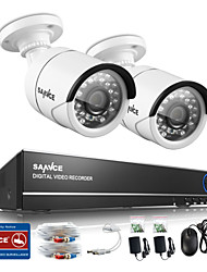 SANNCE® 4CH 720P DVR Surveillance System with 4HD 1280*720 Outdoor Security Cameras IR Distance 30M