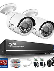 sannce® 4ch 720p Видеорегистратор видеонаблюдения с 4HD 1280 * 720 на открытом воздухе камеры безопасности ИК расстояние 30м