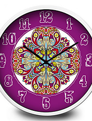 Beautiful Purple Totem Home Furnishing Quartz Metal Wall Clock