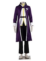 Inspirado por Fairy Tail Gray Fullbuster Anime Fantasias de Cosplay Ternos de Cosplay Color Block Branco / Púrpura Manga CompridaCasaco /