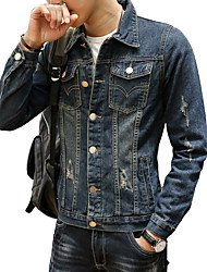 2016 new men's casual jeans Mens Long Sleeved Shirt Jacket with Korean fashion slim