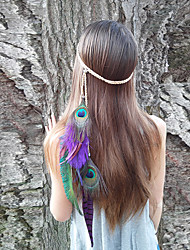 Women's Fashion Bohemia Vintage Feather Pendant Headbands 1 Piece