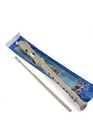 blanc clarinette en plastique avec huit trous