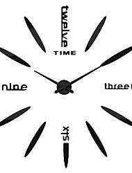 MQ - 007Large Size Creative Diy Wall Clock Art Background Wall Clock Modern Personality Quiet Bell