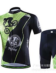 Sport Fahhrad/Radsport Unten / Oberteile Herrn Kurze Ärmel Atmungsaktiv / Schweißableitend Elastan Weiß S / M / L / XL / XXL / XXXL