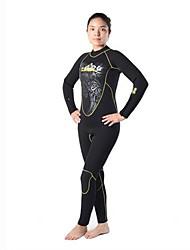 Autres Femme Combinaisons Tenue de plongée Compression Costumes humides 2.5 à 2.9 mm Noir S / M / L / XL Plongée