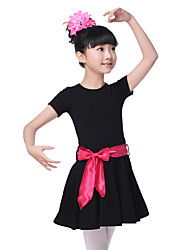 Children's Training Cotton / Crepe Bow(s) 1 Piece  Short Sleeve Natural Dress Children's Ballet Dress