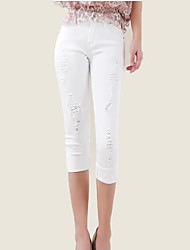 Maternity Simple Jeans Pants,Cotton Inelastic