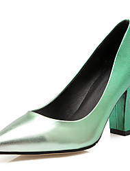 женская обувь коренастый пятки пятки / новизны / острым носом пятки свадьба / партии&вечер / платье синий / зеленый / красный