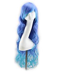 многоплатформенный цвета длиной 80 см волна синтетических волос парики косплей парики