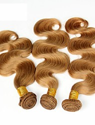 "3Pcs 14-28"" Cinderella Hair Extensions Honey Blonde Brazilian Body Wave Virgin Remy Human Hair Weave Bundles 7A Color 27"