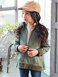 Girl's Casual/Daily Patchwork Suit & Blazer,Cotton Spring Green